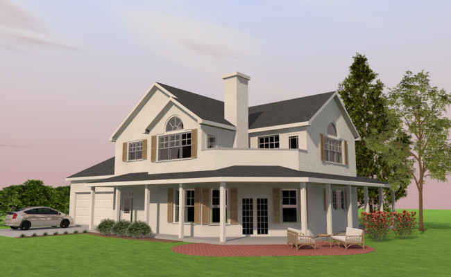 DrakeWayHome_Elevation_Render